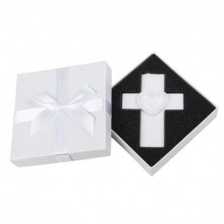 PERSONALIZED RESIN CROSS ORNEMENT