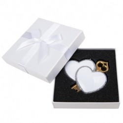 PERSONALIZED RESIN ORNAMENT, HEART TO HEART
